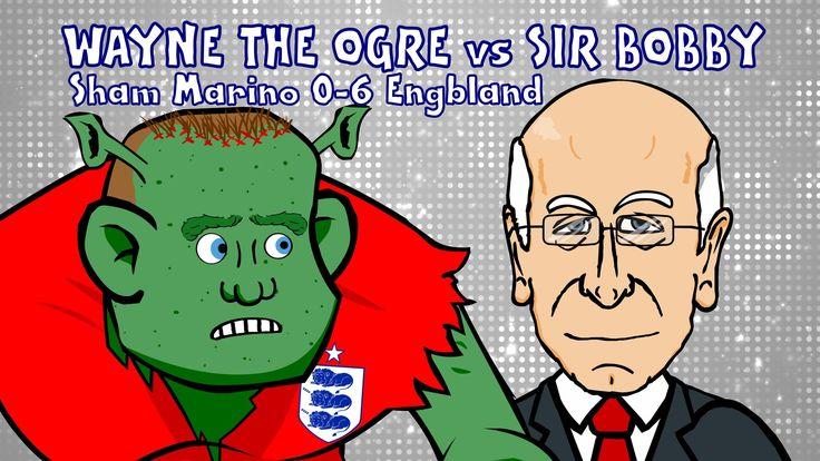 Wayne Rooney vs Sir Bobby Charlton - the comparison! (San Marino vs Engl...