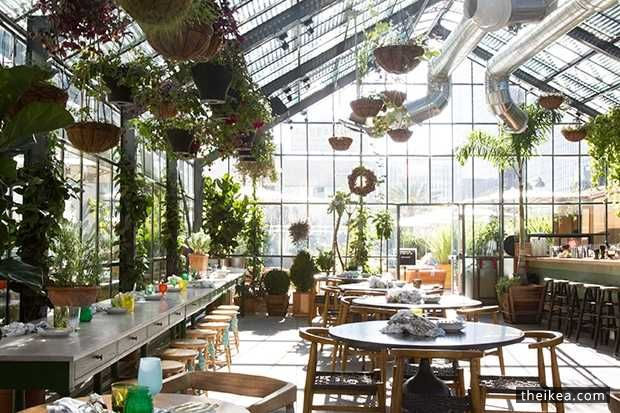 greenhouse inspired restaurant opens on the rooftop httpwwwtheikeacomikea decoration ideasgreenhouse inspired restaurant opens on the roof - Green House Decoration