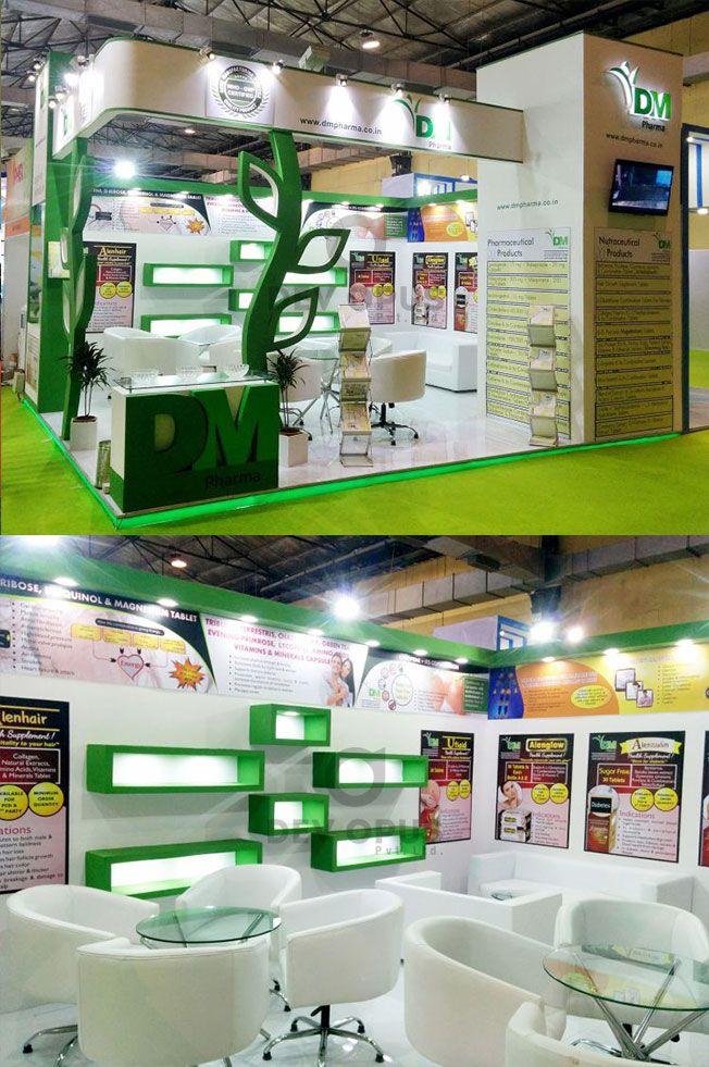Pharmaceutical Exhibition stall design and Fabrication for  DM Pharma at Iphex India 2016 at Mumbai, India.