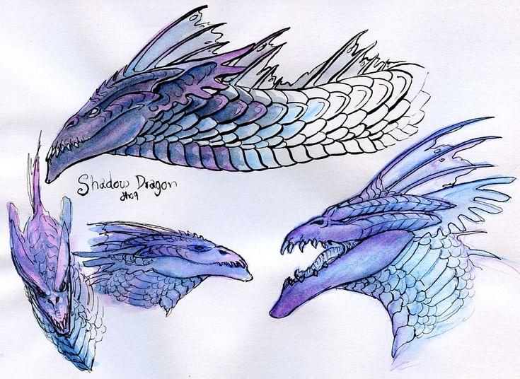 DnD Shadow Dragon - Practising by Silenced-Dreams.deviantart.com on @deviantART