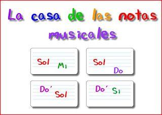 La casa de las notas musicales       En este juego tendrás que colocar las notas en el pentagrama en el orden en el que suenan.   Para ampl...