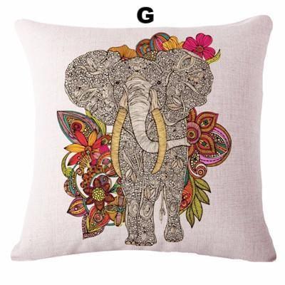 Artisan Elephant Throw Pillow Covers