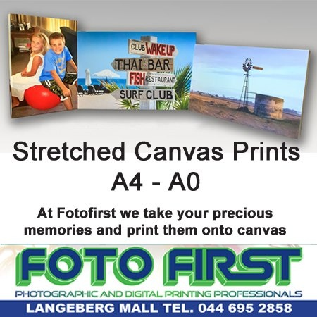 At Fotofirst Mossel Bay we take your precious memories, and print them onto canvas. Decorate your home surrounded by moments that you wish to remember, and share. Speak to us about the various sizes available