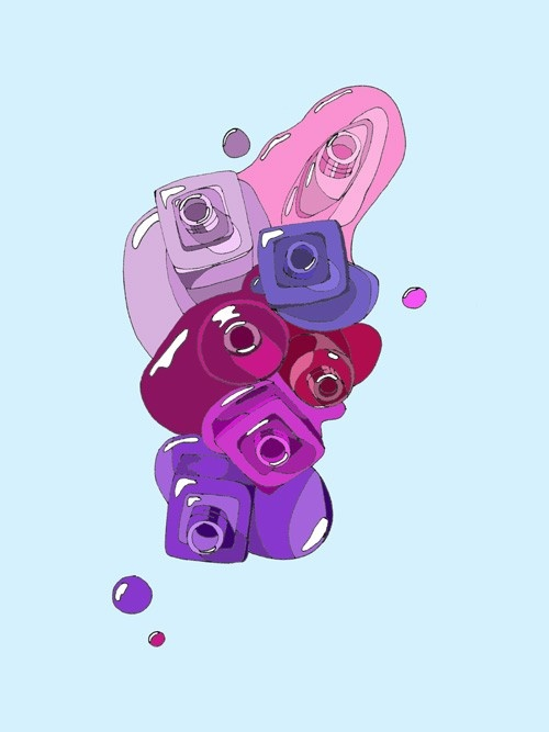 7 Purples Large by emmakisstina on Etsy, kr200.00
