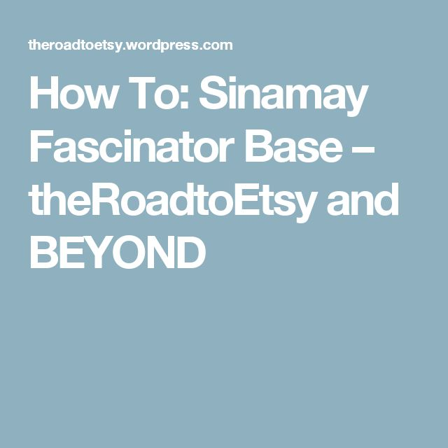 How To: Sinamay Fascinator Base – theRoadtoEtsy and BEYOND