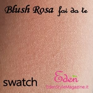 swatch blush phard fard rosa - Ricette cosmetici fai da te - Spignatto - DIY Cosmetics