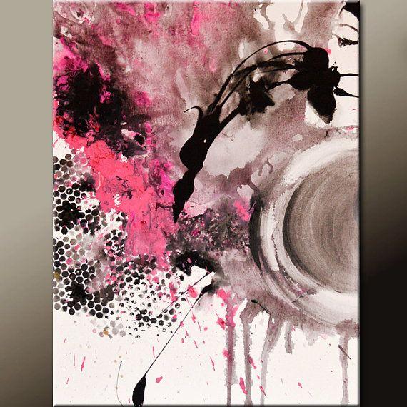 Ursprüngliche abstrakte Kunst Gemälde 18 x 24 von wostudios auf Etsy
