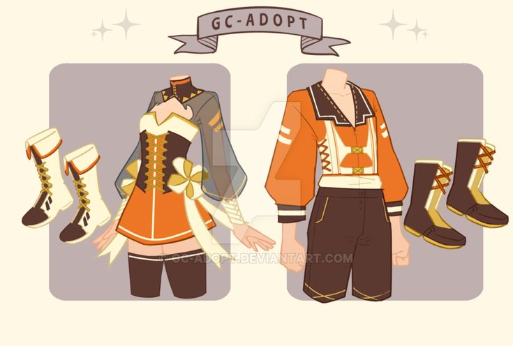 Outfit adoptables 31 open by gcadopt anime outfits