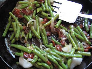 Hot German green bean salad