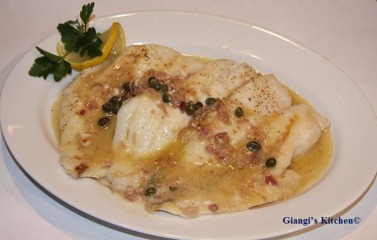 Orange Roughy with Capers, Shallots and Wine Butter Sauce recipe - Foodista.com
