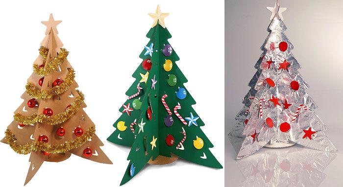 Como hacer un arbol de carton ilustraci n del art culo - Manualidades de arboles de navidad ...