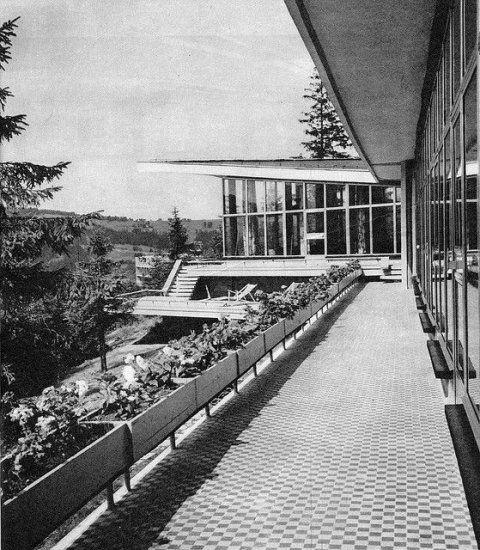 Dom wczasowy Panorama, Zakopane, proj. Jerzy Dajewski, 1963-65