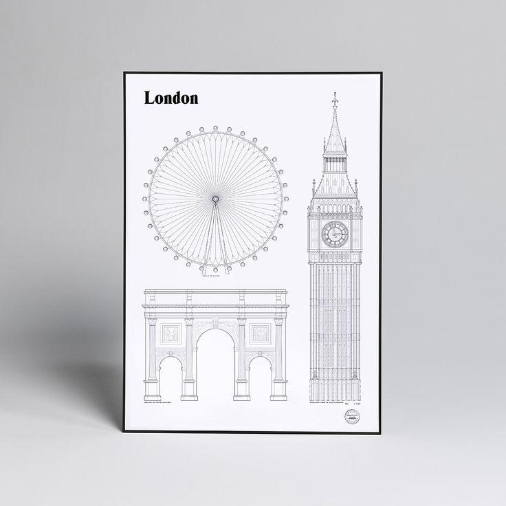 Studio Esinam London Landmark Poster