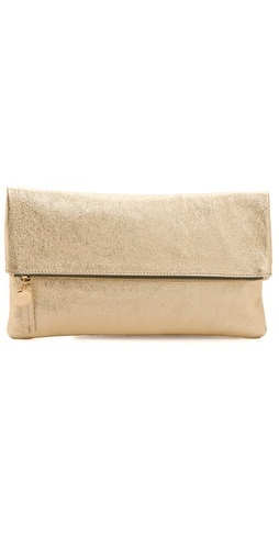 gold fold over clutch / clare vivier... adore this! perfect perfect perfect!