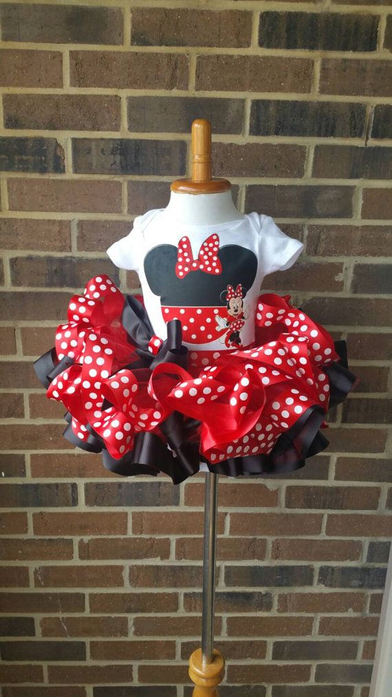 Minnie Mouse Birthday Outfit red Minnie Mouse tutu by CurlyQueTutu