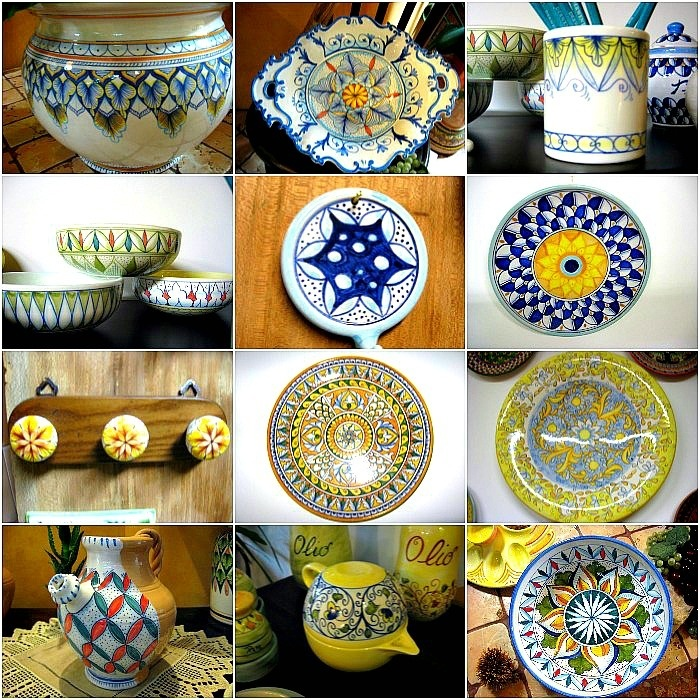 L'Atelier della Terra (The Earth Atelier) of Sabbatini Marica: hand-painted ceramics, Appignano MC