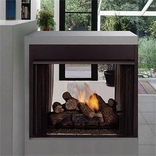 Monessen Lo Rider Peninsula Vent Free Firebox with Herringbone Refractory Firebrick  Vent Free Fireboxes