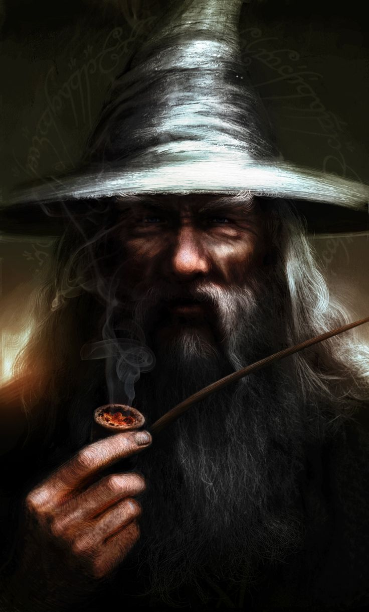 Gandalf the Grey by Leone-art.deviantart.com on @deviantART // WHOA! Case in point! And his hat looks like a tornado! O.o