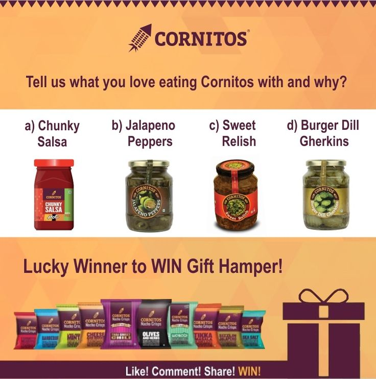 ‪#‎ContestAlert‬ ‪#‎LoveForCornitos‬ Tell us what you love eating CORNITOS! with and why? Lucky winner stands a chance to WIN Cornitos hamper.  LIKE.COMMENT.SHARE