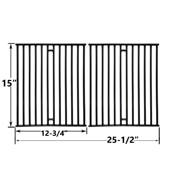 2 PACK PORCELAIN CAST IRON REPLACEMENT COOKING GRIDS FOR BROIL KING 945584, 945587, 94624, 94627, 94644 AND BROIL-MATE 1155-54, 1155-57, 115554, 115557 GAS GRILL MODELS Fits Compatible BROIL KING Models : 9453-54 , 9453-57 , 9453-64 , 9453-64C , 9453-67 , 9453-67C , 9455-84 , 9455-87 , 945584 , 945587 , 9458-87 , 946-24 , 946-27 , 946-44 , 946-47 , 94624 , 94627 , 94644 , 94647 , 949-24 , 949-24S , 949-27 , 949-27S , 949-44 , 949-47 , 949-74 , 949-77 , 949-94 , 949-97 , 94924 , 94924S…