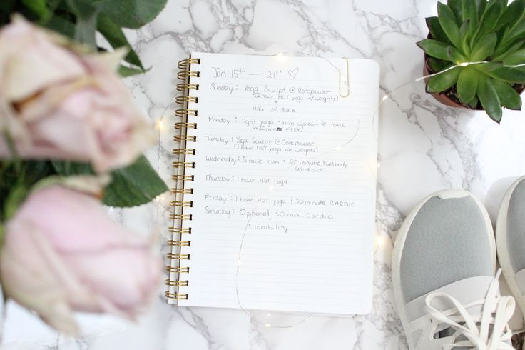 Goal Setting + Weekly Workout Schedules