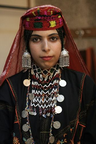 Portrait of a young Gojri woman. Gojri, also known as Gujari is an Indo-Aryan language spoken by the Gujjars of Northern-Pakistan, India and Afghanistan.