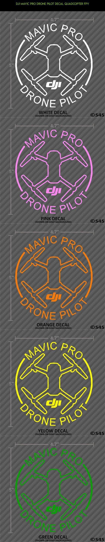 DJI Mavic Pro Drone Pilot Decal Quadcopter FPV #parts #pro #mavic #technology #quadcopter #shopping #fpv #tech #drone #products #racing #plans #kit #camera #gadgets