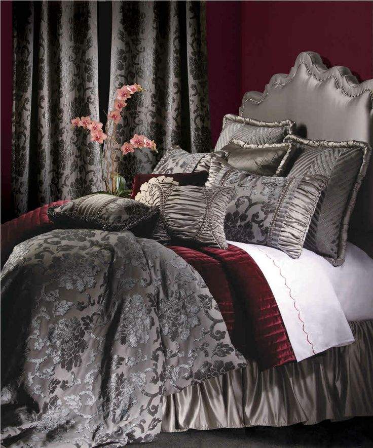 Luxury Bedding Solutions - La Rosa 4 PC Cal King Bedding Ensemble, $823.99 (http://www.luxurybeddingsolutions.com/la-rosa-4-pc-cal-king-bedding-ensemble/)