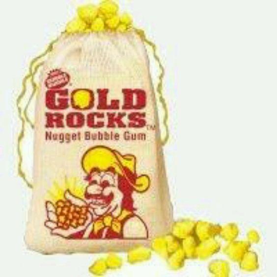 Gold Rocks Nugget Bubble Gum