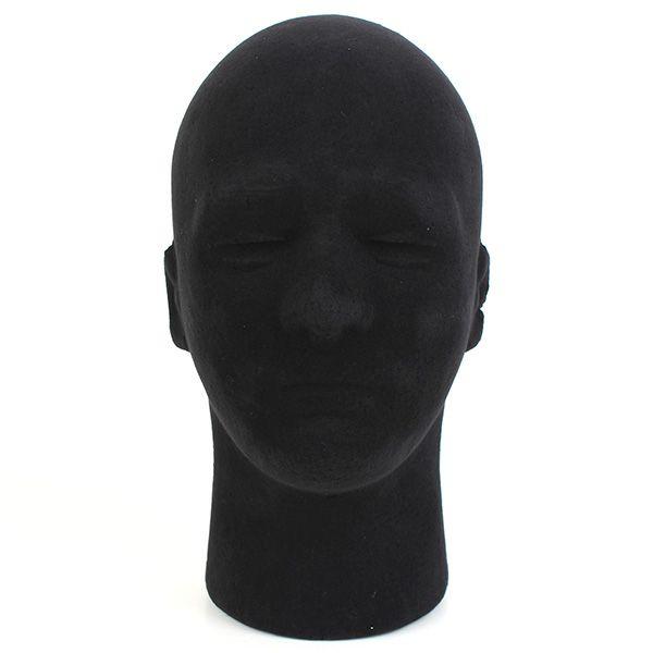 Macho de espuma de poliestireno cabeza maniquí maniquí de pie pelucas visualización modelo