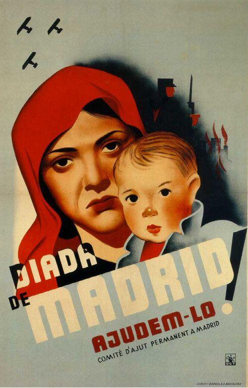 "Anónimo. 1937. Barcelona. SDP. ""Diada de Madrid. Ajudem-lo."""