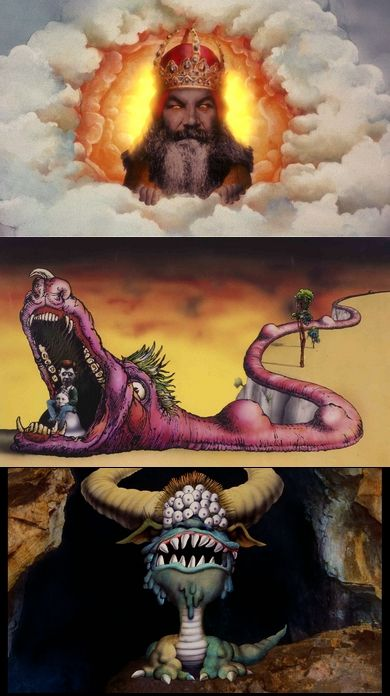 Terry Gilliam artwork for Monty Python's Flying Circus