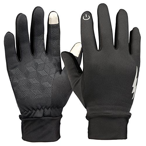 Winter Gloves HiCool Touch Screen Gloves Thermal Cycling Gloves Driving Gloves for Men and Women Black Medium -- You can get additional details at the image link.