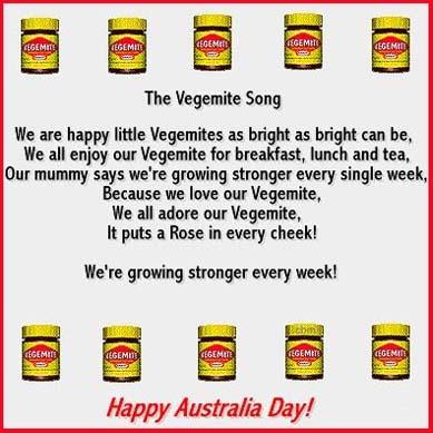 The Vegemite Song...  •*♥☼•*¨`Happy Australia Day!!•*¨`•*♥☼