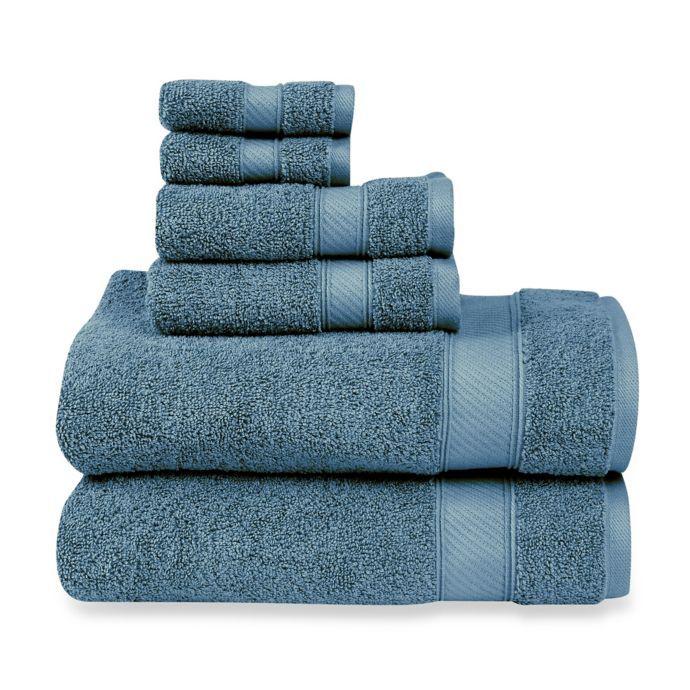 Wamsutta 6 Piece Hygro Duet Bath Towel Set Bed Bath Beyond
