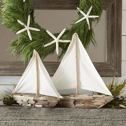 Driftwood Sailboat Decor #birchlane