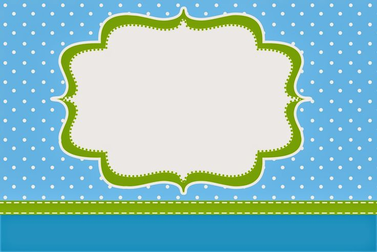 Blue and Lemon Green Party Free Printable Invitations and Boxes.
