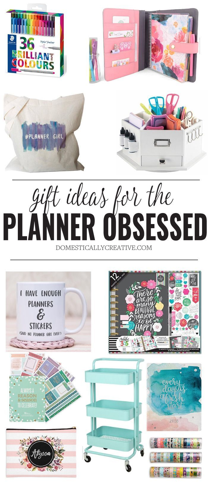 tons of great idea for the planner addict in your life #happyplanner #erincondrenplanner #planneraddict #plannergift #giftguide #domesticallycreative