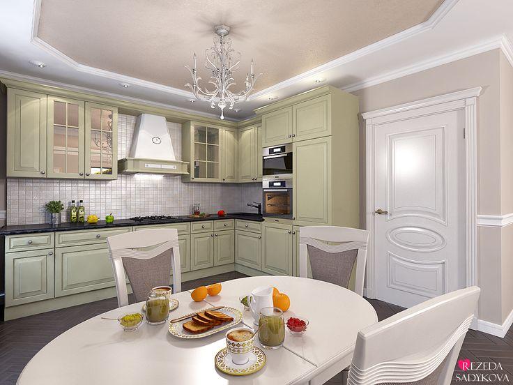 Казань. Дизайн интерьера двухкомнатной квартиры в стиле современная классика…