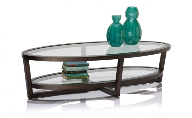 Gramercy Oval Coffee Table - Charcoal