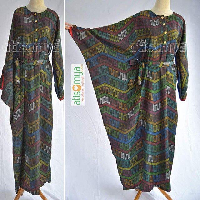 Baju Busui Motif etnik Tradisional Indonesia dengan model asimetris :  Asymetric Dress SD0301 RangRang