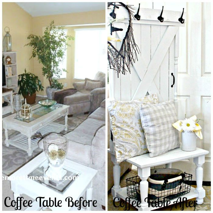 Coffee Table Before and After Farmhouse Hall Tree:The Fab Furniture Flippin' Contest