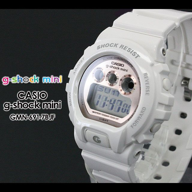 Rakuten: CASIO/G-SHOCK/G shock G-shock women GMN-691-7BJF/white/pink Ladys [fs01gm]- Shopping Japanese products from Japan