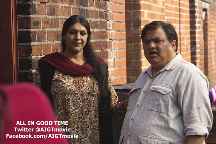 Meera Syal and Harish Patel in All In Good Time - bloody hilarious film. Comes out in May...I think!