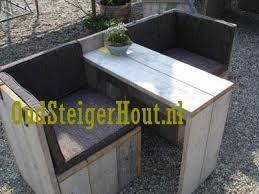 bouwtekening van een tuinset love seat van steigerhout