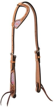 Check out the deal on Weaver Turquoise Cross Collection One Ear Headstall With Pink Beads at Chicks Discount Saddlery