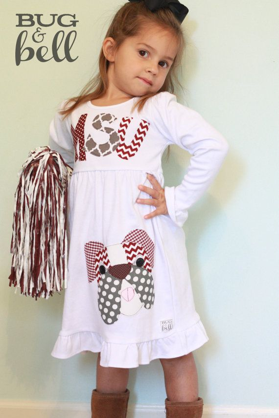 Mississippi State Bulldogs Dress for Girls LONG by BugandBell