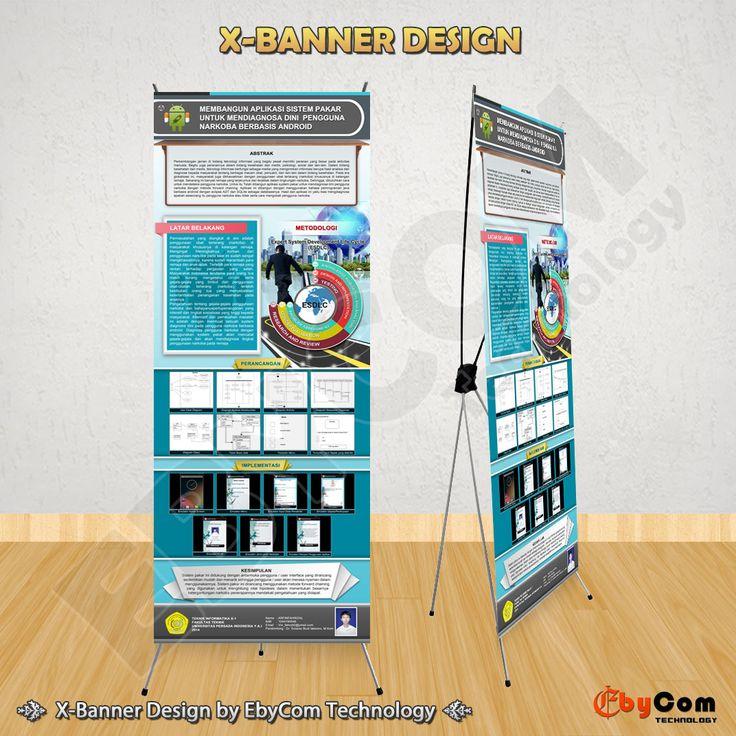 Jasa Pembuatan Desain X-Banner untuk Promosi, Pameran, Presentasi, Skripsi, dan lain-lain.