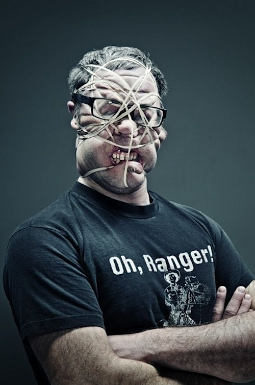 Rubber Band Portraits by Wes Naman