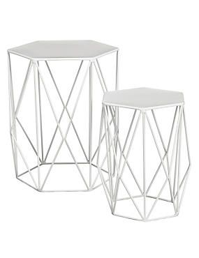 Wire Nest Of Tables White Industrial Side Table Side Table